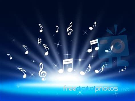 Standar Sing Wave Blue blue background means instruments and soundwaves