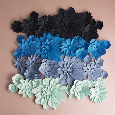 Handmade Flower Paper - handmade ombre paper flower square backdrop by comeuppance