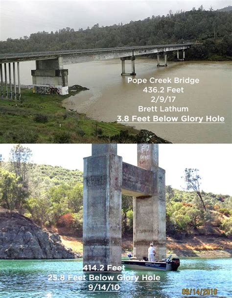 Lake Berryesa by Pope Creek Bridge Combo 020917 Lake Berryessa News