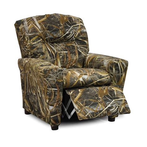 camo recliner chair realtree camo furniture realtree max 5 kids recliner camo
