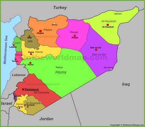 syria on map syria maps with on world map besttabletfor me