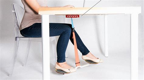 leg exercises at desk keep your legs from falling asleep with this office swing