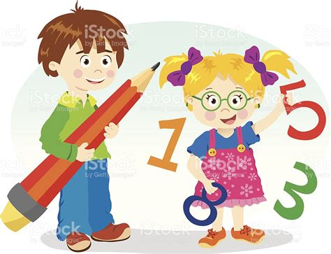 imagenes de niños trabajando matematicas en preescolar mathematics kids 공부에 대한 스톡 벡터 아트 및 기타 이미지 156881127 istock