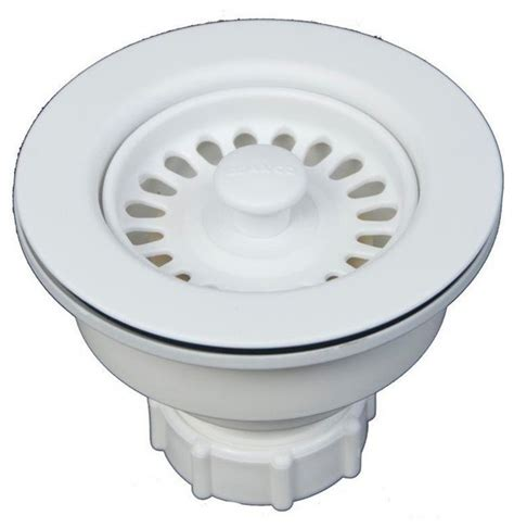 Kitchen Sink Accessories Basket Decorative Basket Strainer White 3 5 Quot Contemporary Kitchen Sink Accessories