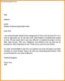 Appreciation Letter When Resigning Appreciation Letter To Boss Letter Format Mail