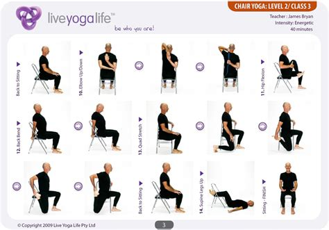 printable exercise program for seniors yoga with a chair complete set classes 1 to 7 live
