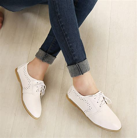 are oxford shoes comfortable comfortable white lace up flat oxford shoes on luulla