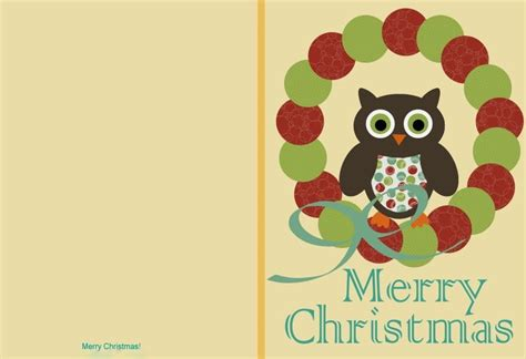 a free printable cards owl cards