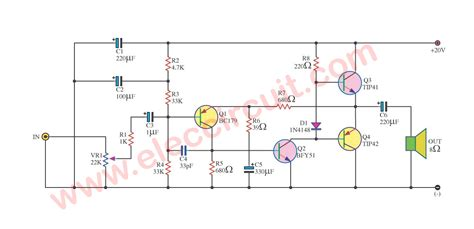 Power Lifier A D S 100w audio schematic 100w get free image about