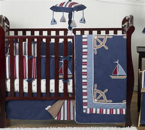 Nautical Crib Bedding Sets Navy Blue Nautical Boat Baby Crib Bedding Set For Newborn Boy Sweet Jojo Designs Ebay