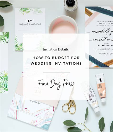 Wedding Invitations Budget by How To Budget For Wedding Invitations Day Press