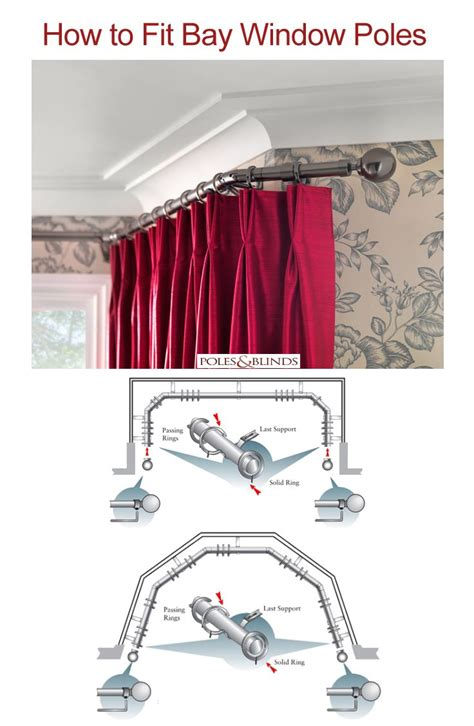 5 sided curtain pole for bay window 11 best images about how to guides and tips for curtain