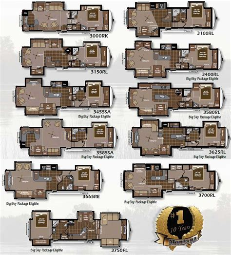 keystone fifth wheel floor plans 2011 keystone montana fifth wheel floorplans large picture