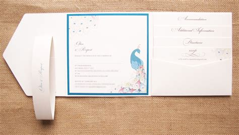 wedding invite pockets uk peacock wedding invitations in ecru and jade