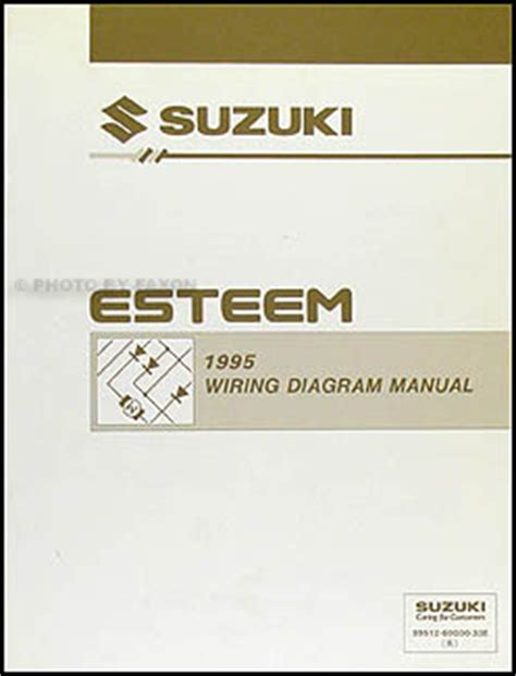 old car owners manuals 1995 suzuki esteem navigation system 1995 suzuki esteem wiring diagram manual original