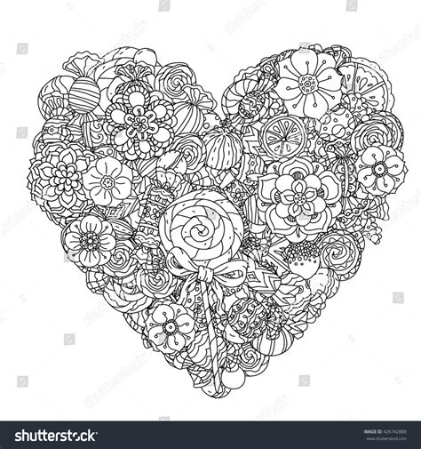 coloring pages for adult in zenart style antistress coloring page uncoloured flowers and sweets for adult coloring book in