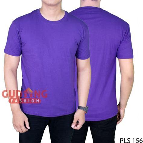 Polo Shirts Pria Polos Pendek Pls 01 basic tshirt polos pendek pria cotton cardet ungu muda pls 156 gudang fashion