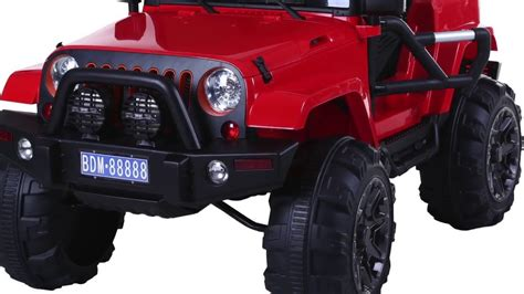 kids electric jeep kids cool 12v monster truck electric jeep youtube