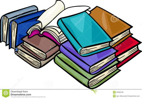 pictures to books heap of books illustration royalty free stock