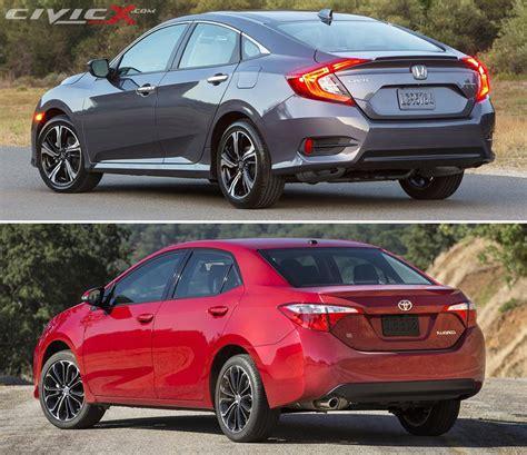 Toyota Civic 2016 Honda Civic Vs Toyota Corolla Comparison 2016