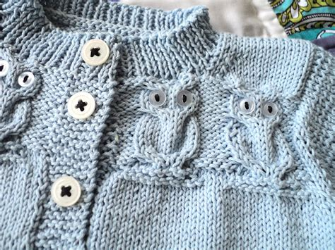 knitting pattern owl sweater toddler owl sweater pattern cardigan with buttons