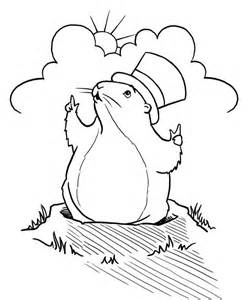 groundhog coloring page groundhog drawing az coloring pages