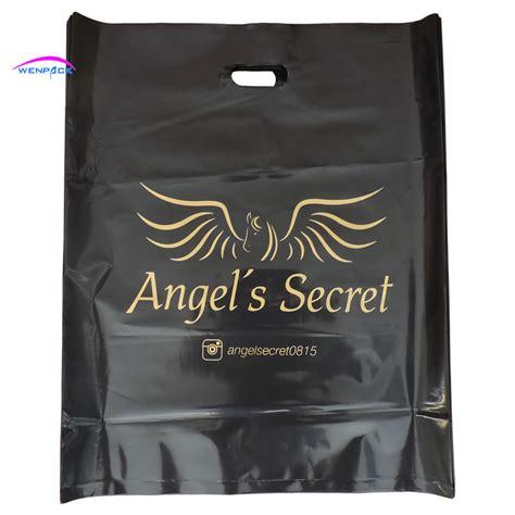 Shopping Bag Warna Warni 20x30 35x45cm custom shopping handle plastic gift bag plastic packaging bag for shoes printed logo