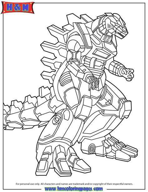 godzilla robot coloring page h m coloring pages