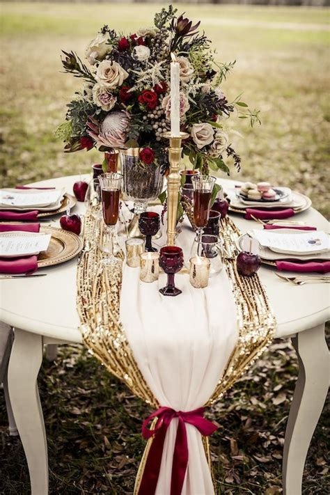 plum sequin table runner 30 fall wedding table runners for beautiful decor