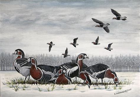 Original Valen Apparel a winter day painting by valentin katrandzhiev