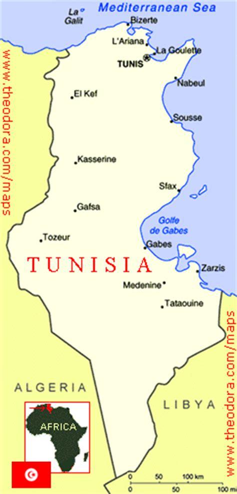 tunisia map of the world tunesien orographie karte