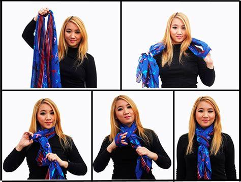 nudos de bufanda formas de usar una bufanda nudo forma de y estilo mujer