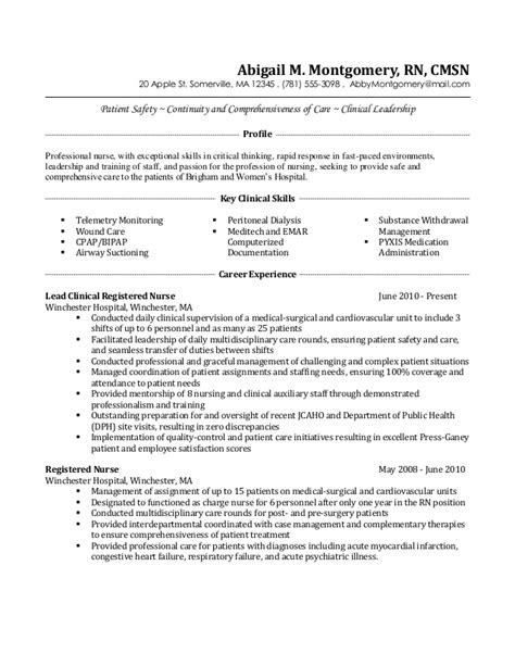 med surg nurse resume fluently me