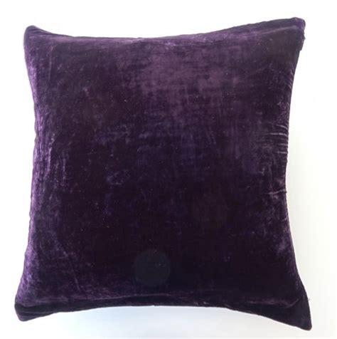 Velvet Throw Pillow Covers by Dreamhome Solid Velvet Decorative Pillow Cover 16 Quot X 16 Quot Purple Eggplant 873189031864