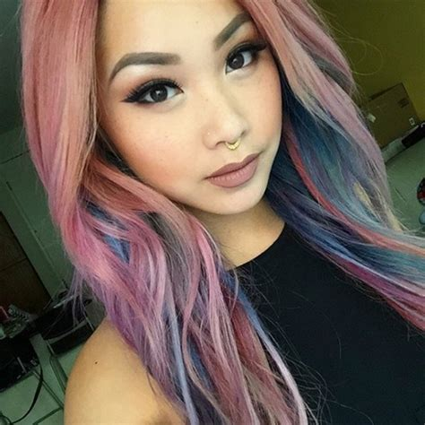 pastel hair colors for women in their 30s streak it or go global pastel hair color trends for