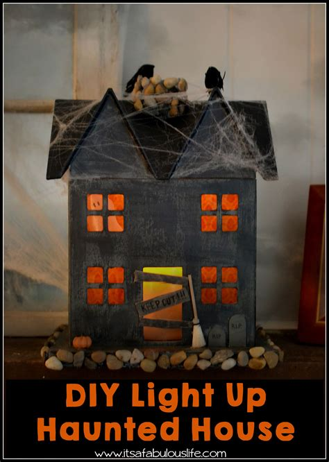 haunted house craft for diy light up haunted house easy and craft