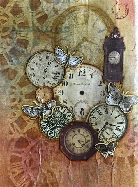 themes clock time quot time keeps on ticking quot art journal page week 28 dlp 2015