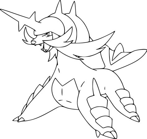 pokemon coloring pages luxray pokemon samurott coloring page
