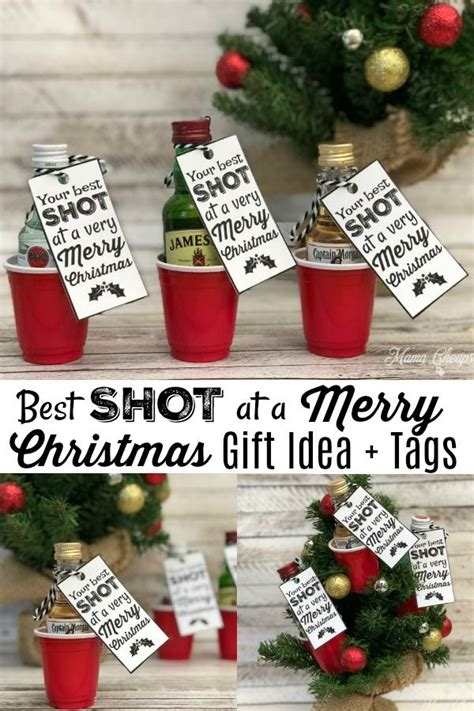 shot   merry christmas fun alcohol gift idea homemade christmas gifts homemade