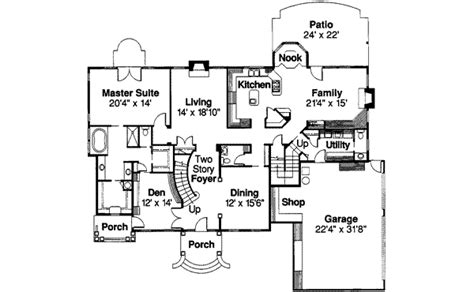 Duggar House Floor Plan Colonial Style House Plan 5 Beds 5 5 Baths 4076 Sq Ft Plan 124 216