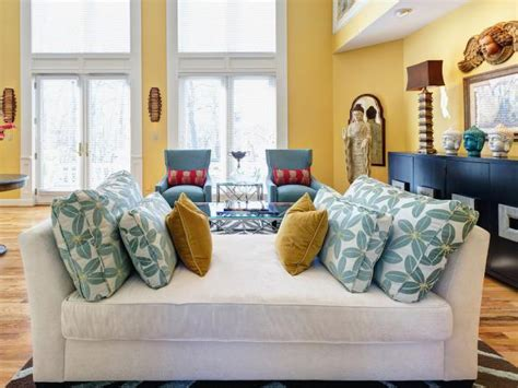padded benches living room photo page hgtv