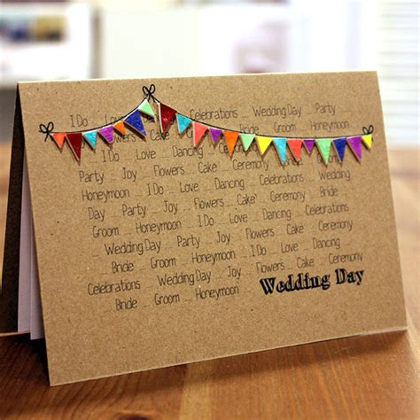 Handmade La - handmade wedding card wedding by littlesilverleaf on etsy