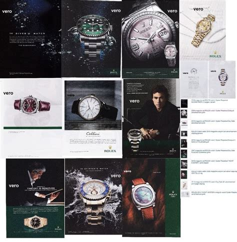rolex ads 2015 rolex watch lot of 10 magazine ad print clipping page 2005