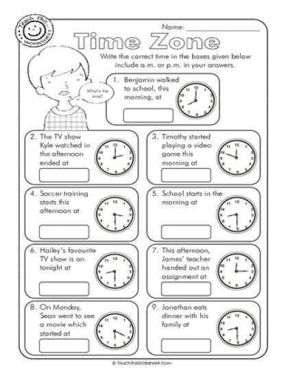 Zones Worksheet by Time Zone Am Or Pm Math Time Zones