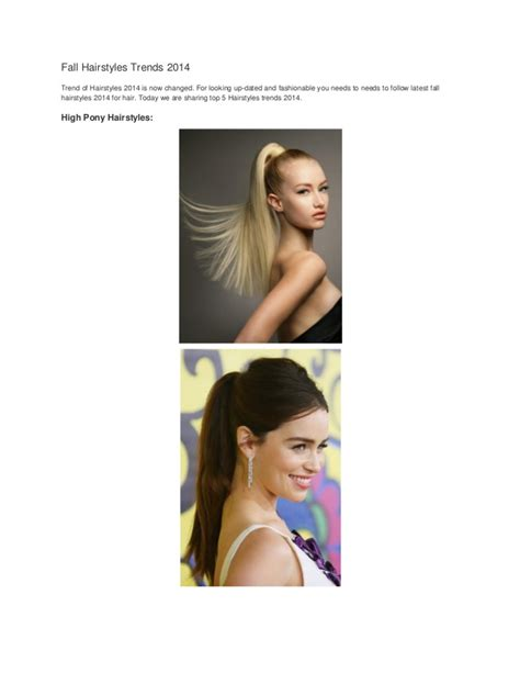 New Fall Hairstyles 2014 by Upcoming Hair Trends 2014 Fall Hairstyles Trends 2014