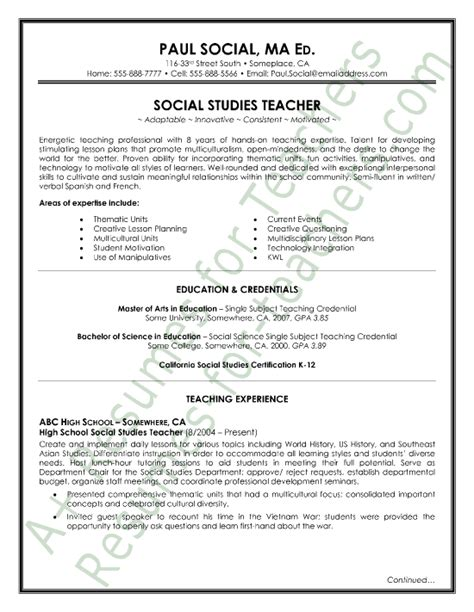 resumes sles for teachers in india http www resumecareer info resumes sles for