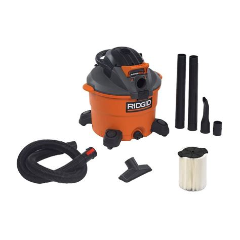 ridgid shop vac vacuum cleaner 12 gallon 5 hp w