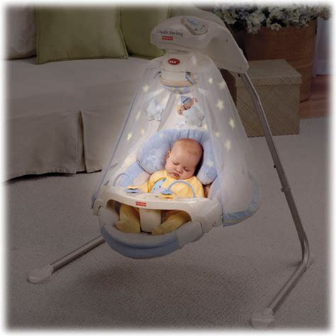 baby swing with lights and music starlight papasan cradle swing