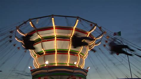 swings amusement park ride chain swing ride stock footage video shutterstock