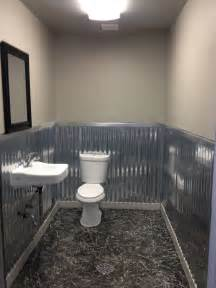 metal bathroom wall bathroom remodel with corrugated metal on the wall